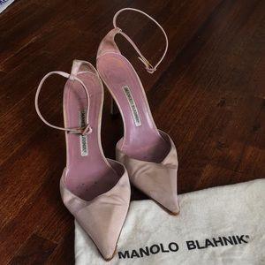 Manolo Blahnik lavender ankle strap stiletto